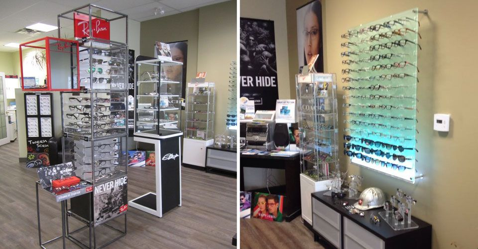 glasses, frames and sunglasses displays in Pembroke